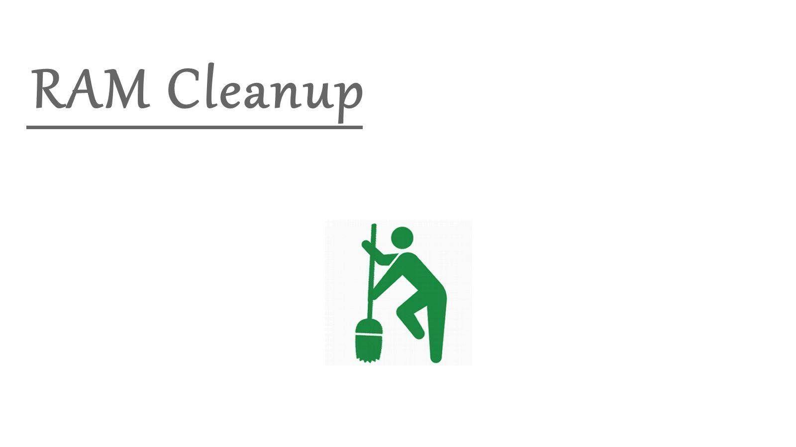 RAM Cleanup: Limpeza da ram