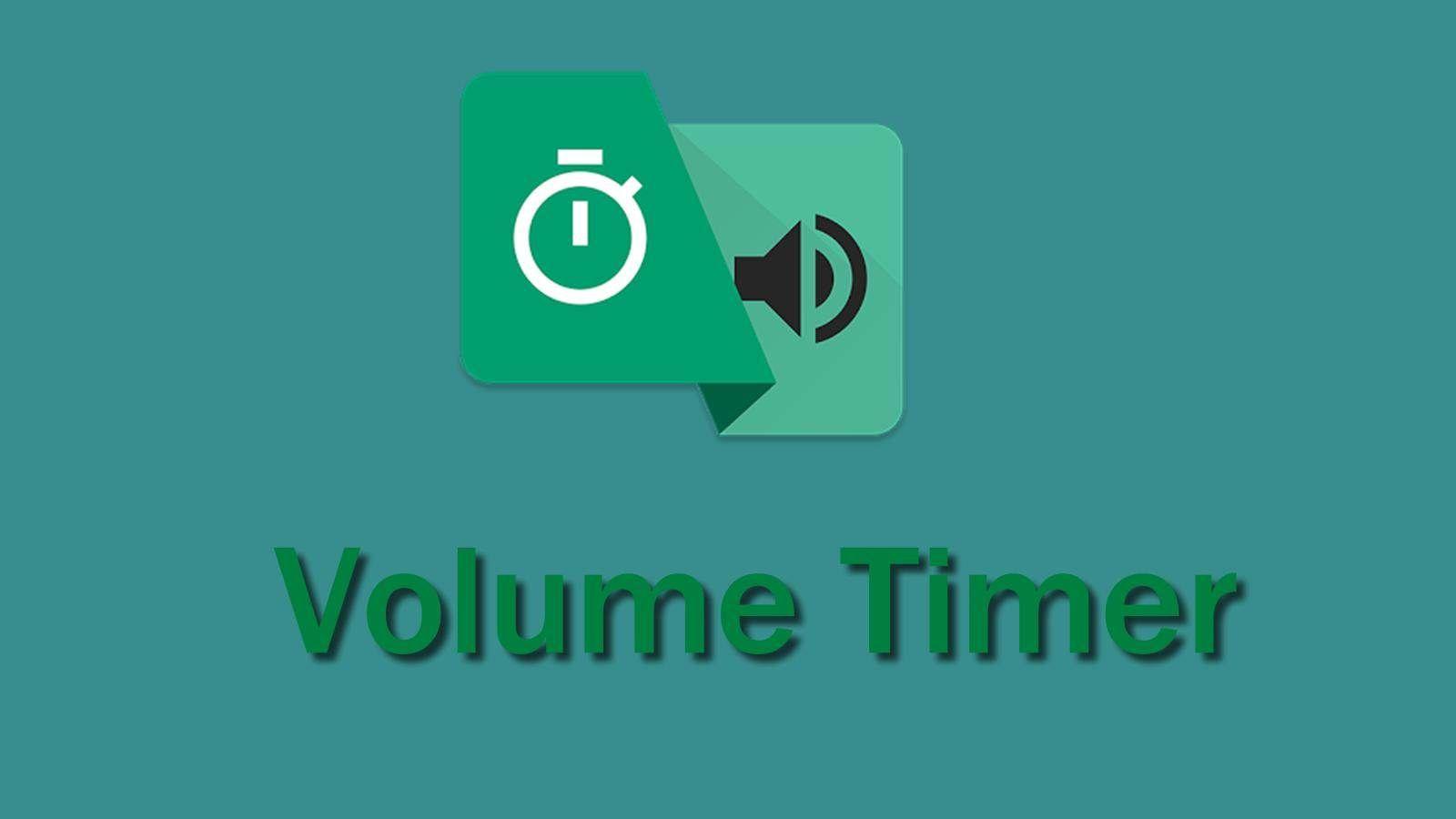 Volume Timer: Timer para o volume do seu aparelho