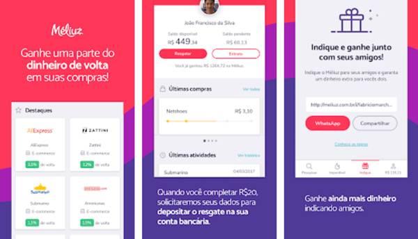 9586ea674 O Méliuz é um aplicativo que, além de fornecer cupons de descontos e avisar  o usuário de diversas promoções existentes pela internet, conta com um  sistema ...