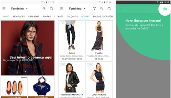 e95c2ed9a1aa Com mais de 200 mil produtos entre roupas masculinas e femininas,  acessórios, calçados e moda infantil, o aplicativo da Dafiti conta com um  visual impecável ...