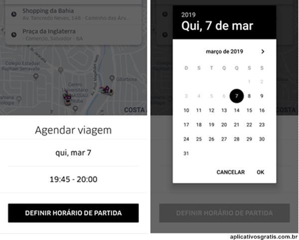 Como Agendar Uber?