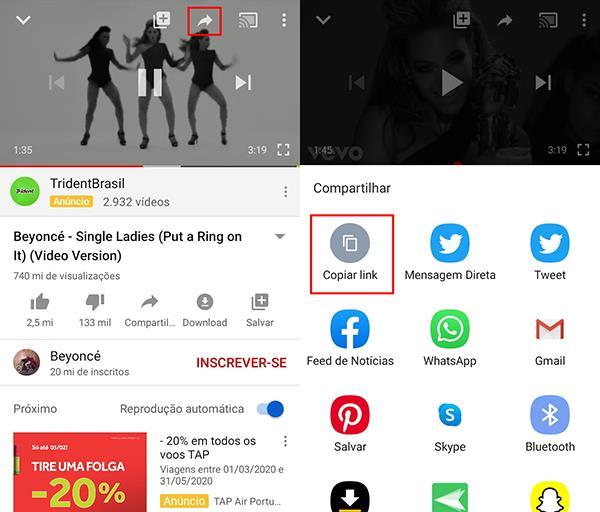 converter áudio do youtube